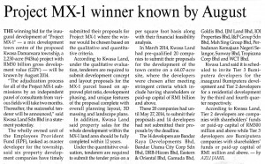 03062014 - Project MX-1 winner known by August - Malaysian Reserve