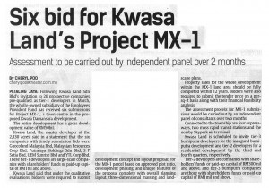 03062014 - Six Bid for Kwasa Land's Project MX-1 - The Star-1