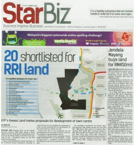 04_03_14 - 20 Shortlisted for RRI land - The Star Front Page-1