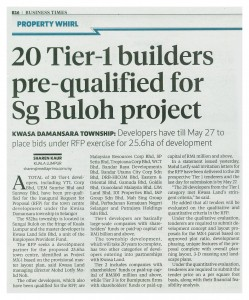 04_03_14 - 20 Tier-1 builders pre-qualified for Sg Buloh project - NST