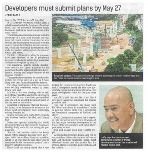 04_03_14 - Developers must submit plan by May 27 - The Star Page 2-1