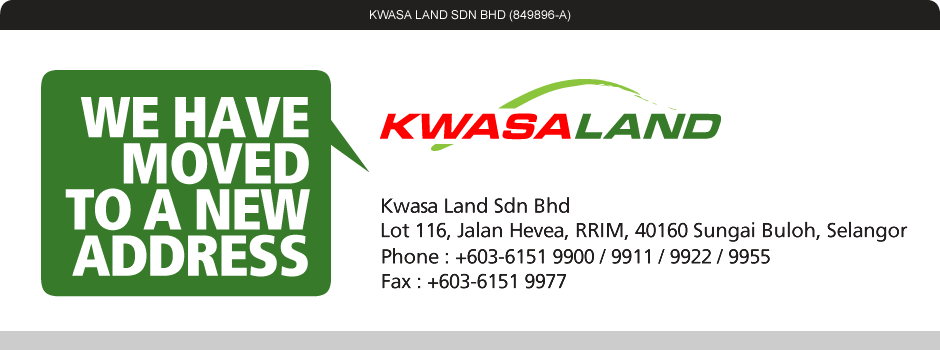Kwasa Land have moved to RRIM, Sungai Buloh