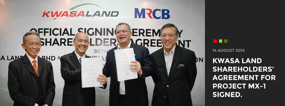 Kwasa Land shareholders' agreement for Project MX-1 signed